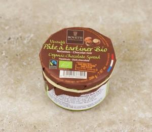 Pâte à tartiner noisettes-chocolat noir Bio