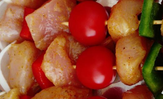 Brochette poulet mariné curry miel