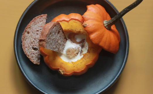 Oeuf cocotte en courge Jack be little
