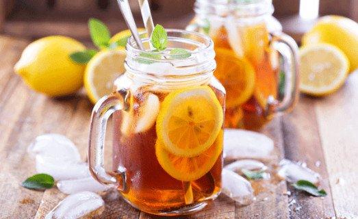 Thé glacé menthe citron